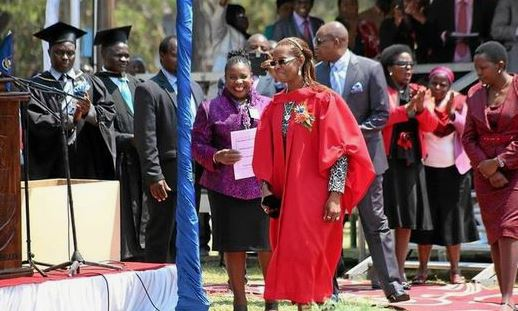 grace mugabe phd